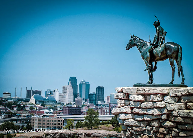 Spectacular view of Kansas City from The Scout monument. Image credit Sage of Everyday Wanderer.