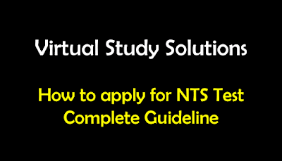 How to apply for NTS Test - Complete Guideline