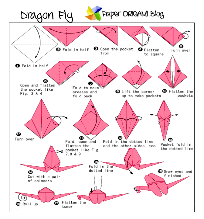 3d Origami Dragon Diagram
