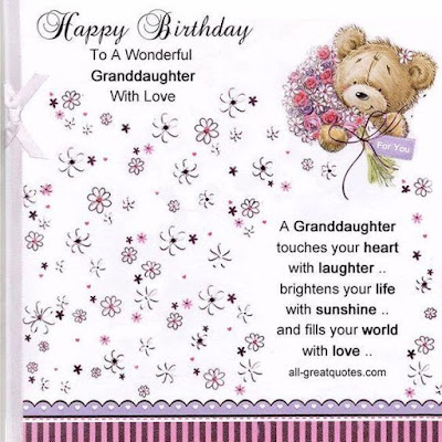 Happy Birthday  Granddaughter With Love