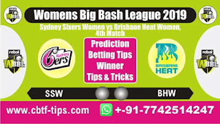 Who will win Today, WBBL T20 2019, 4th Match BHW vs SSW