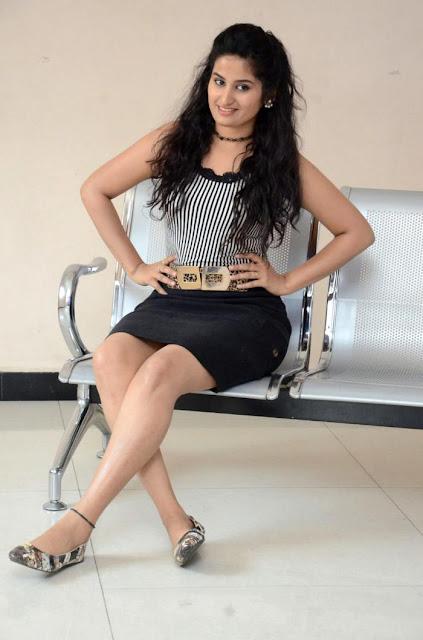 Ankitha Latest Pics Long Cross Legs Thigh Stills In Black Skirt Actress Trend