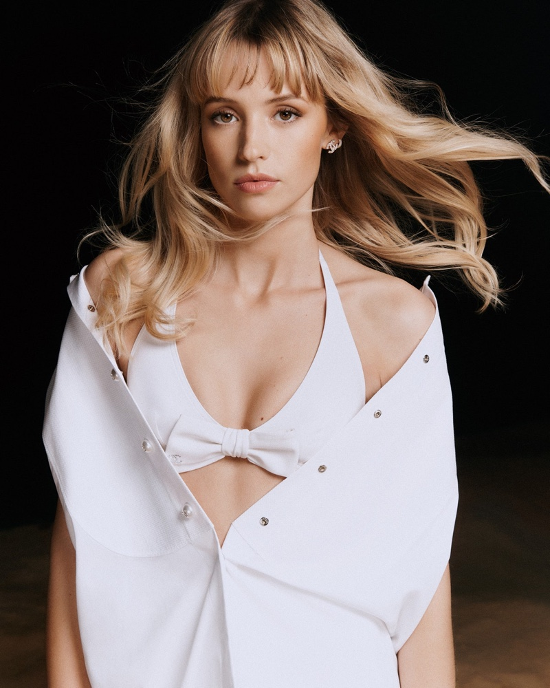 Angèle stars in Chanel Coco Beach 2021 campaign.