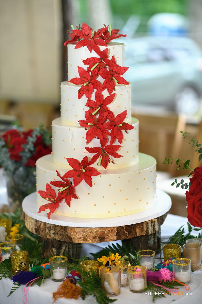 Outdoor Indian Wedding Photography Cake SudeepStudio.com Ann Arbor Indian Wedding Photographer