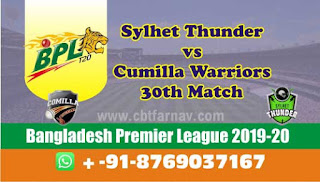 Today Match Prediction Comilla vs Sylhet BPL T20 30th Match 100% Sure