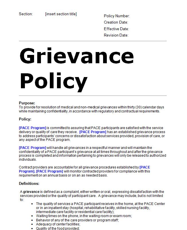 Grievance and dispute policy sample template editable doc sample what fbccfo Gallery