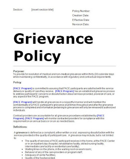 Grievance Policy Sample Template Ed.