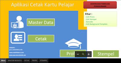 Aplikasi Pembuatan Kartu Pelajar SD/MI/SMP/MTS/SMA Dan SMK Format Excel