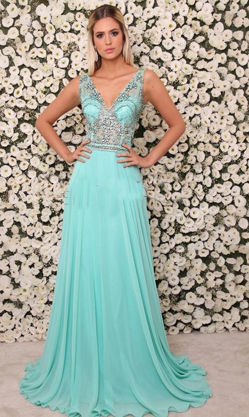 Vestido azul tiffany em belo horizonte