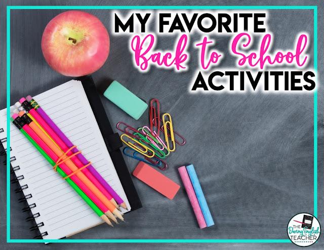 My Favorite Back-to-School Activities
