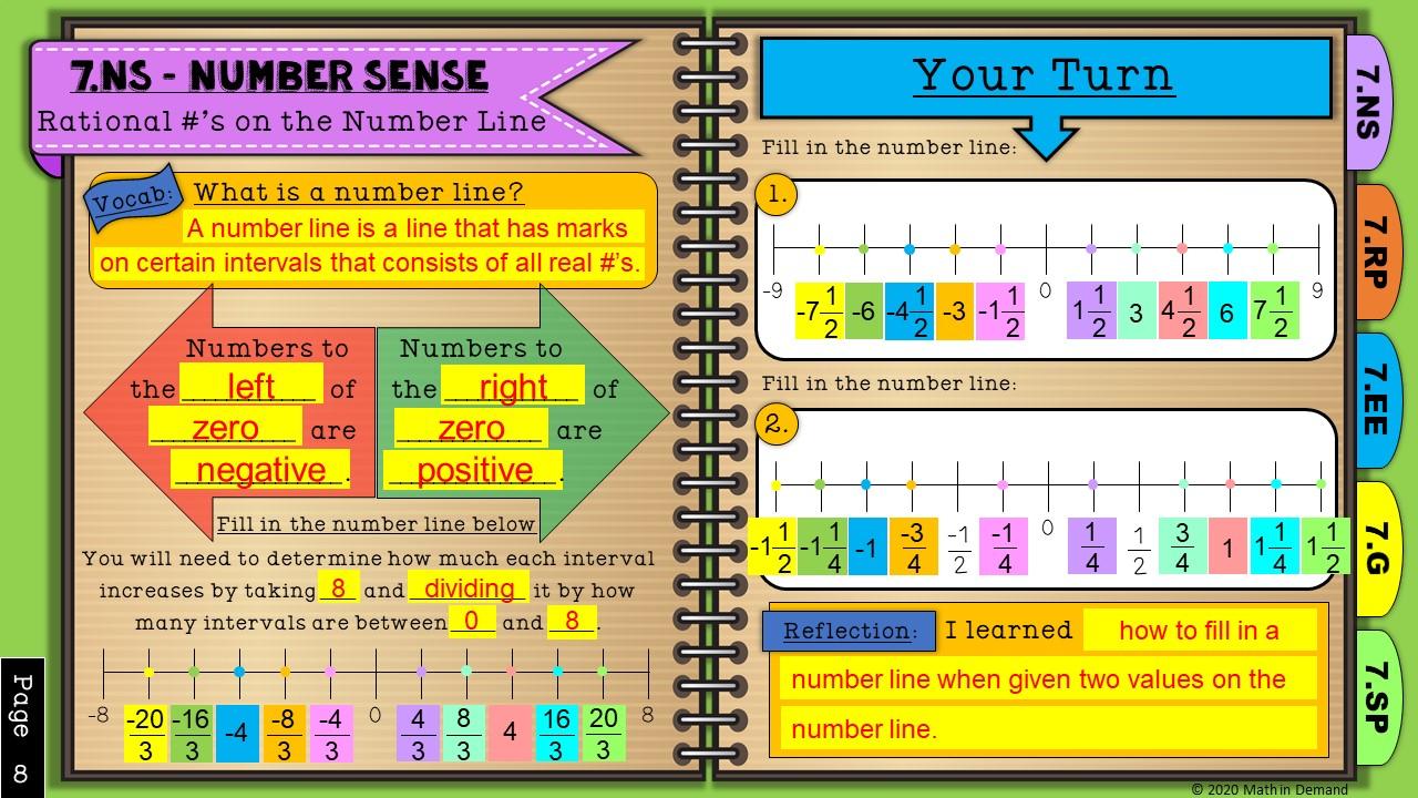 7th Grade Math Digital Interactive Notebook [ 720 x 1280 Pixel ]