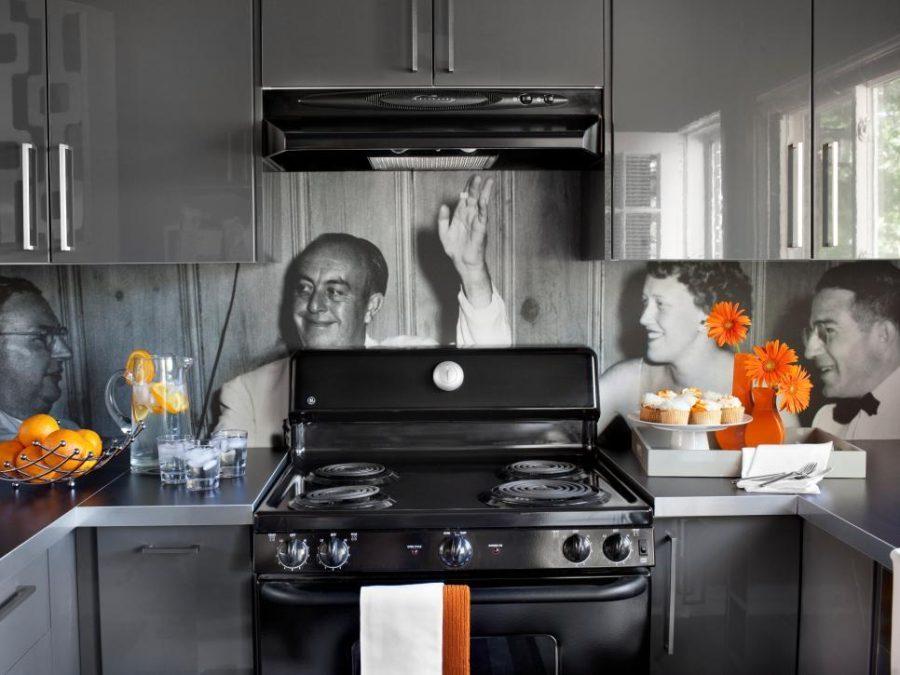 Interior Design Kitchen with Wallpaper Fotocdn.trendir.com
