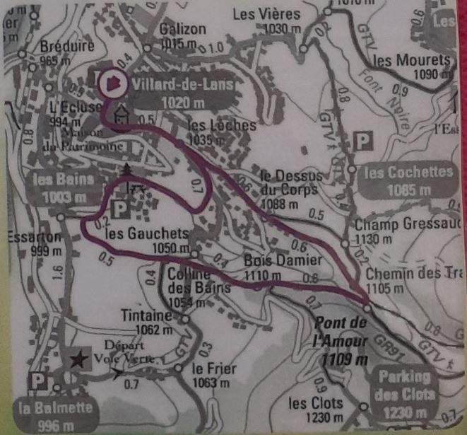 La boucle du Pont de l'Amour - Villard de Lans