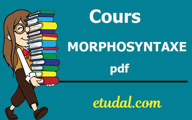 cours morphosyntaxe flsh s3 pdf