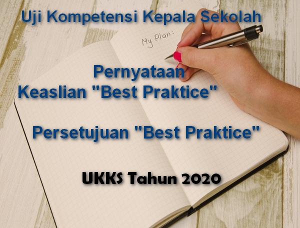 Surat Pernyataan Keaslian Best Praktice Dan Persetujuan UKKS 2020