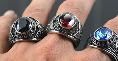 cincin batu akik pria