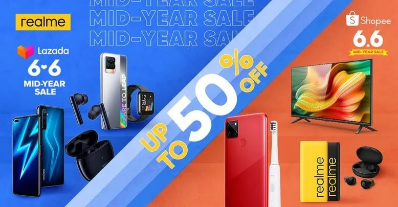 realme 6.6 Mid-Year Sale; Up to 50% Off on realme Smartphones and TechLife Products