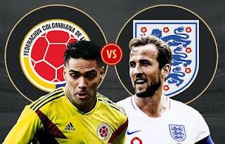 Susunan Pemain Kolombia vs Inggris - Piala Dunia 2018