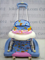 A 2 in One Royal RY8188 Circus Baby Walker and Rocker