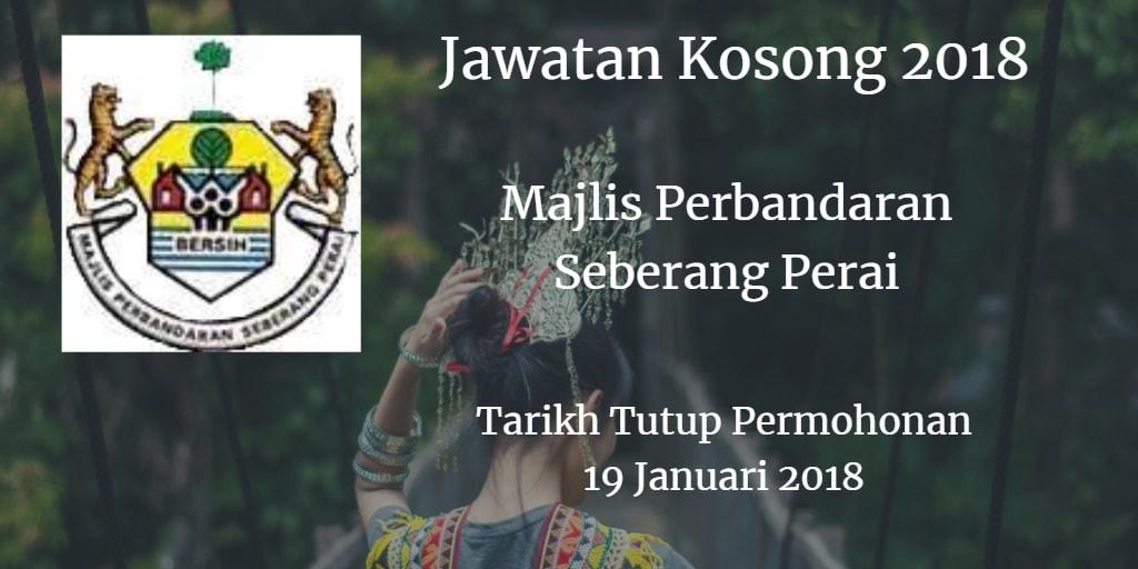 Jawatan Kosong MPSP 19 Januari 2018