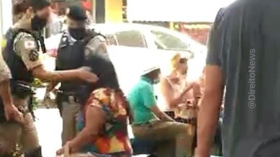 mulher agredida publico policial militar formiga