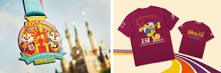 Shanghai Disneyland Disney Inspiration Run automne 2019 médailles
