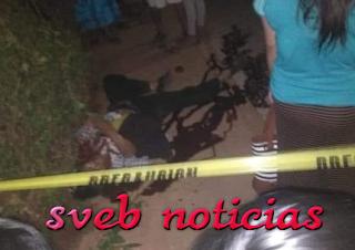 Matan a balazos a un hombre en  Soteapan Veracruz
