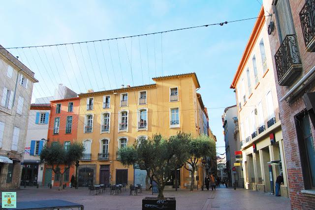Plaza de la República en Perpignan, Francia