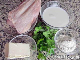 Piept de pui cu sos alb - ingredientele necesare retetei