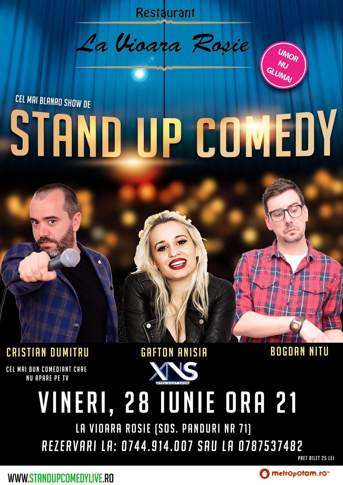Stand-Up Comedy Bucuresti  la pret de vara (Vineri 28 Iunie 2019)