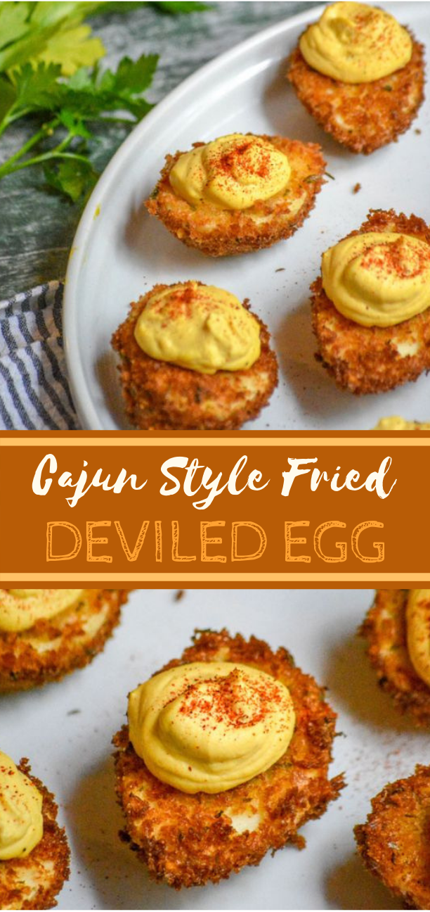 Cajun Style Fried Deviled Eggs #lunch #appetizer