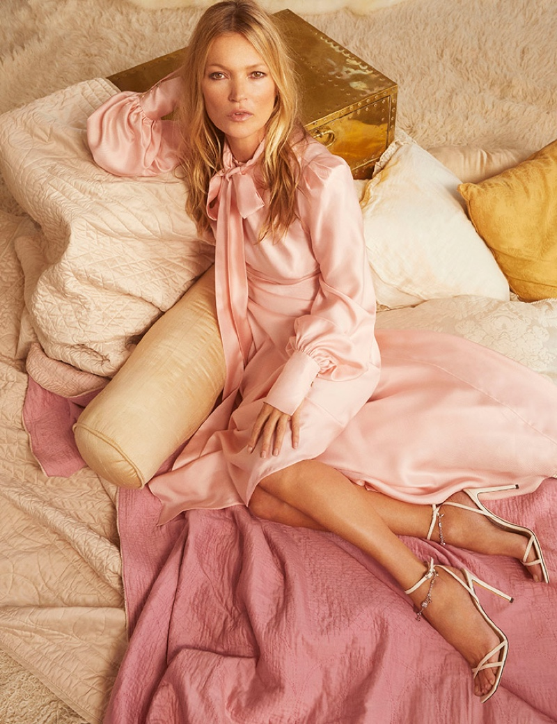 Jimmy Choo taps Kate Moss for pre-fall 2020 campaign.