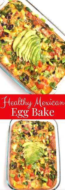 Healthy Mexican Egg Bake