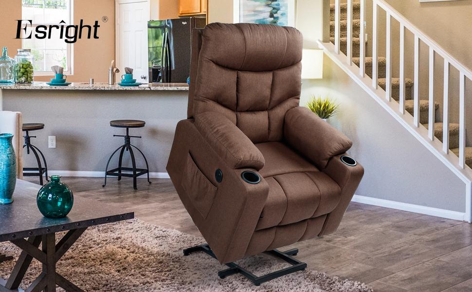 electric recliner sofa modern fabric