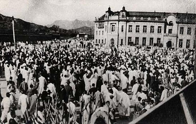 Concentración contra el colonialismo japonés en la Plaza de Seúl