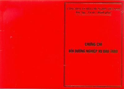 Chung chi boi duong nghiep vu dau thau
