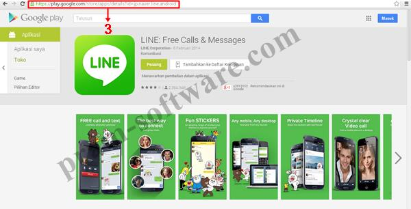 Copy URL apps di Google Play Store