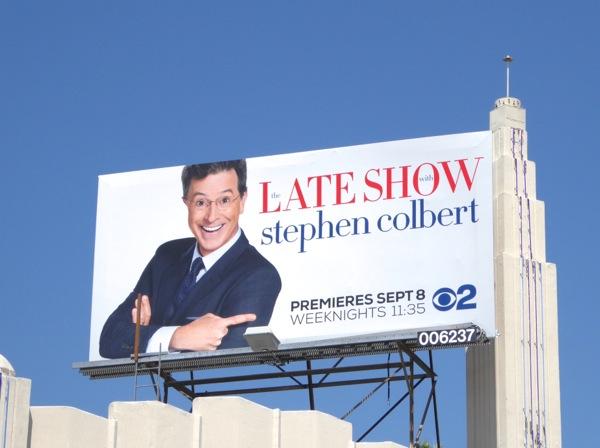 Late Show Stephen Colbert premiere billboard