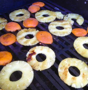 Fruit on the grill