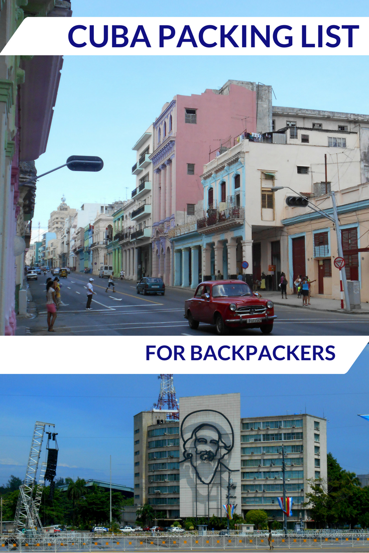 Cuba packing list for backpackers - by travelsandmore