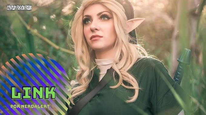 Nerdalert con su cosplay de Link