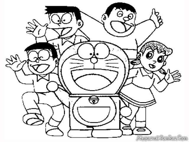 Gambar Tokoh Kartun Doraemon Untuk Diwarnai Anak