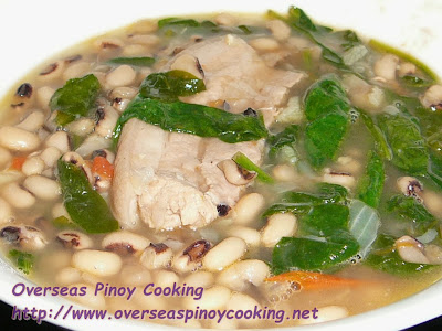 Black Eyed Pea with Pork Belly, Pinablad a Pusi