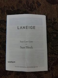 petunjuk dari laneige sun care