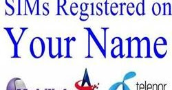 Check How Many SIMs Registered on your Name - Pakistan Hotline