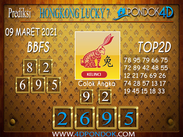 Prediksi Togel HONGKONG LUCKY7 PONDOK4D 09 APRIL 2021