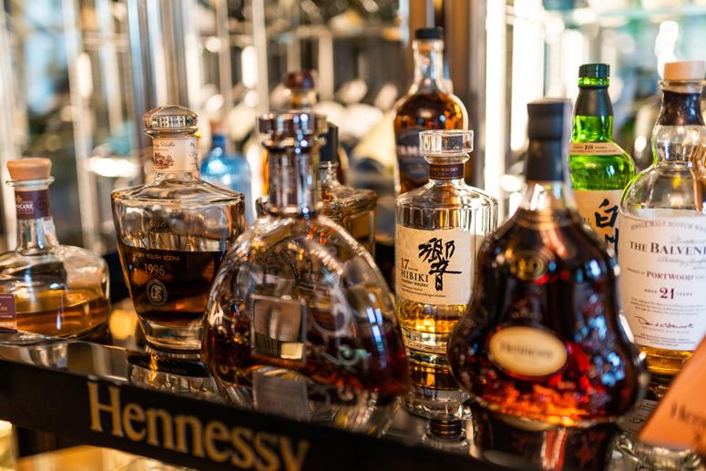 wybor alkoholi restauracja hotel