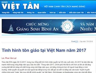 Dân chủ xuyên tạc tình hình tôn giáo tại Việt Nam năm 2017