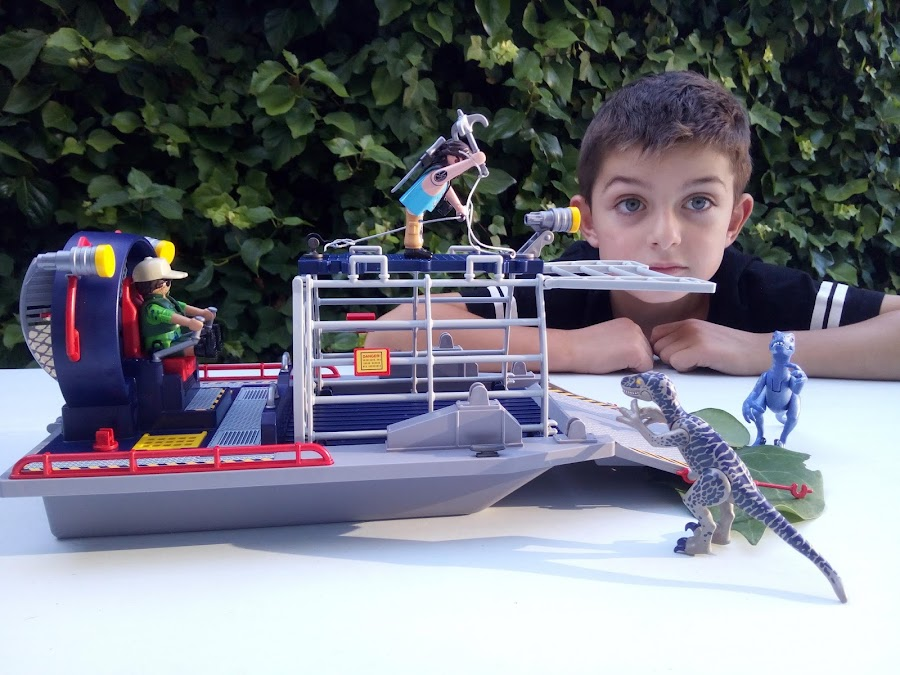 Hidrodeslizador con jaula Playmobil 9433
