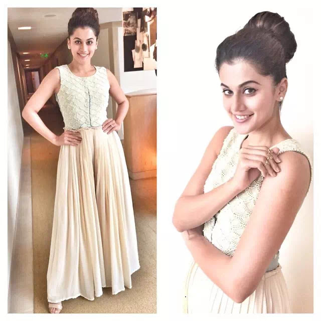 Taapsee Pannu High bun